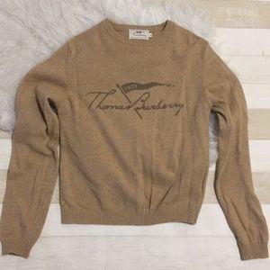 Burberry brown camel big logo sweater
